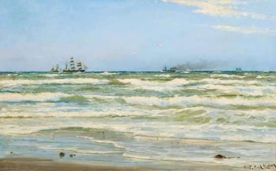 "Carl Ludwig Thilson Punch ""ship traffic on the horizon"" - photo 1"