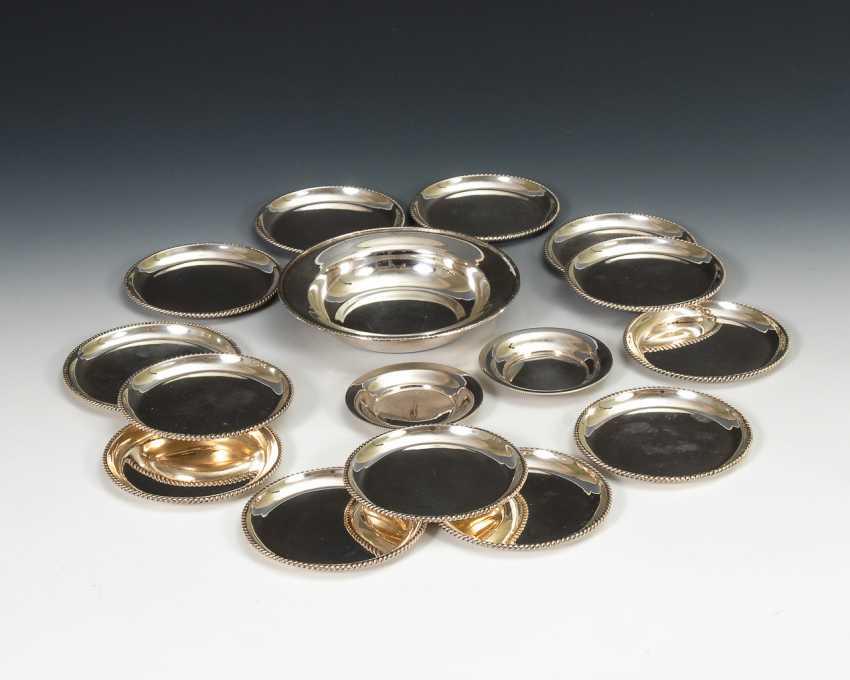 Konvolut 16 Silbertellerchen. - Foto 1
