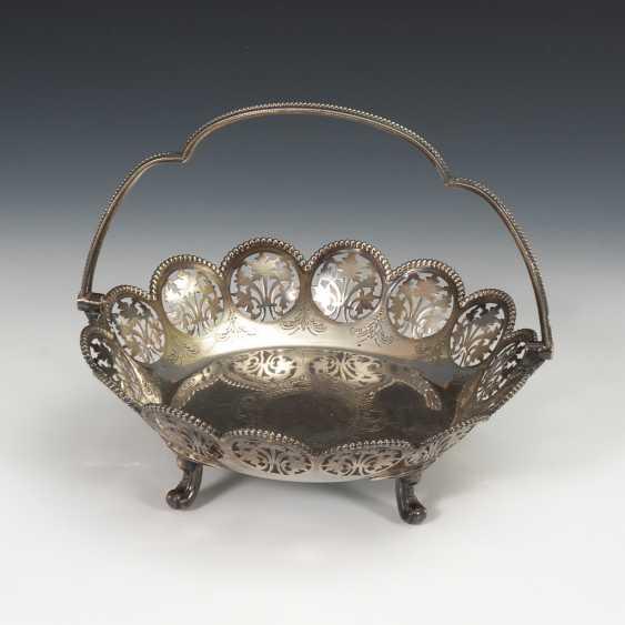 Viktorianische Henkelschale, Silber. - Foto 1