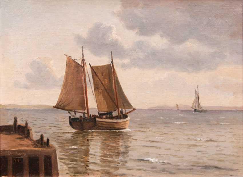 "Christian Vigilius Blache ""departure from port"" - photo 1"