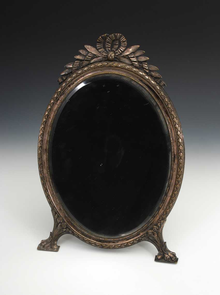 Silver-Plated Table Mirror. - photo 1
