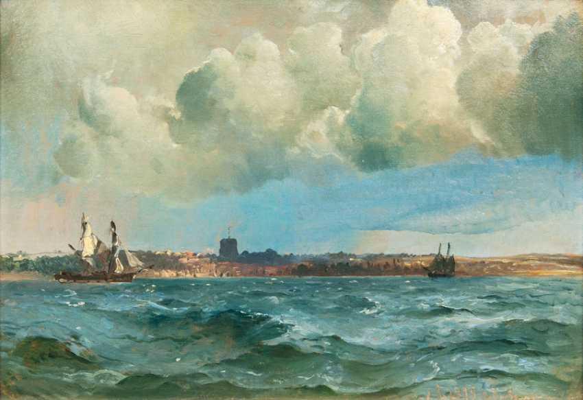 """Carl Frederik Sörensen """"ships in front of Helsingborg"""" - photo 1"""