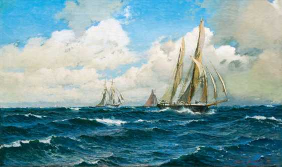 "Wilhelm Müller-Brieghel ""sailors in faster travel"" - photo 1"