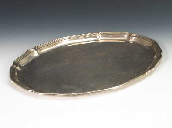 Großes ovales Silbertabett. - Foto 1