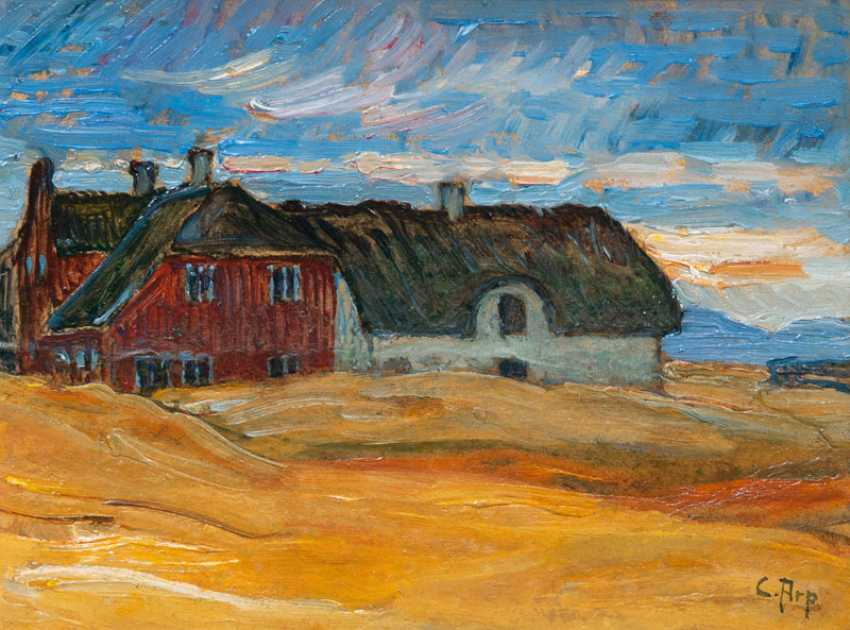"Carl Arp ""houses in the dusk on the island of Sylt"" - photo 1"