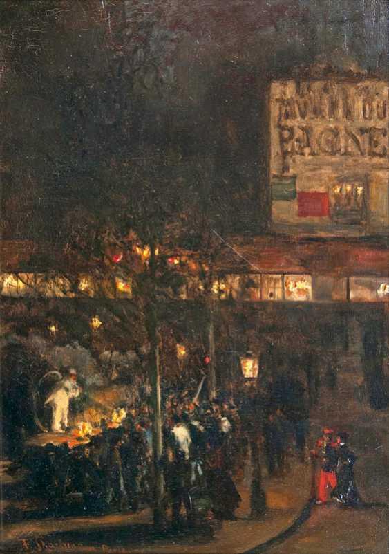"""Franz Skarbina """"evening scene in Paris"""" - photo 1"""