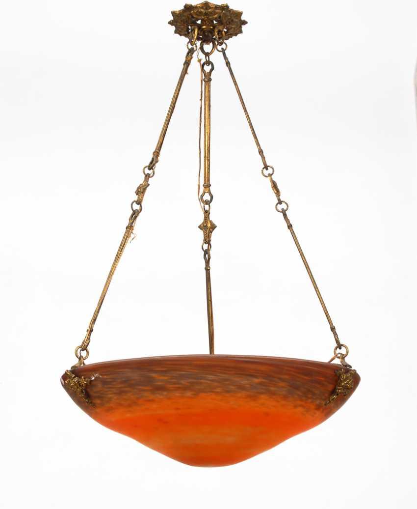 Große Jugendstil-Deckenlampe, Muller Frères. - Foto 1
