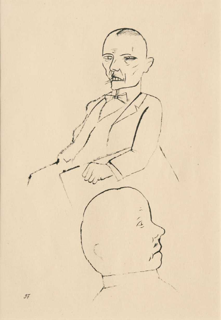 """George Grosz """"In Thoughts"""" - photo 1"""