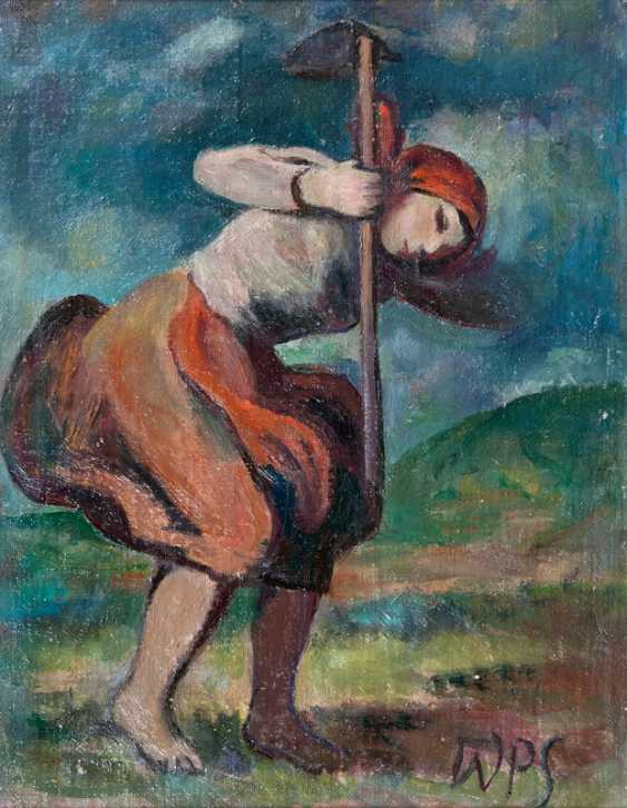 "Werner Paul Schmidt ""peasant with hoe"" - photo 1"