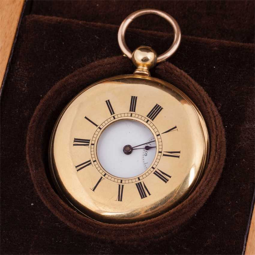 Gold 3-cover pocket watch with engraved double-headed eagle in the box - photo 6