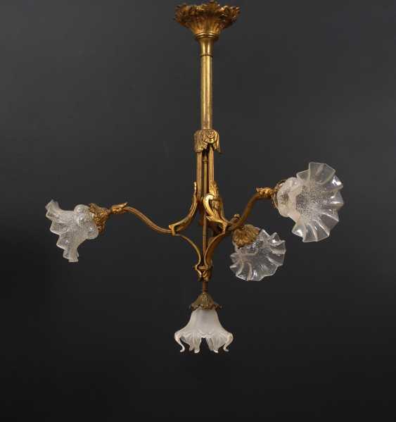 Jugendstil-Deckenlampe. - Foto 1