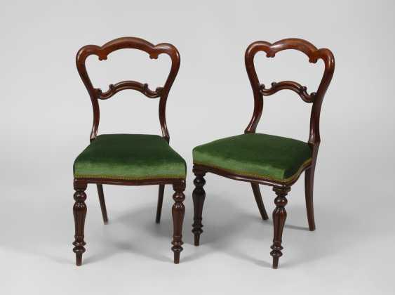 Paar Mahagonistühle, Louis-Philippe. - Foto 1