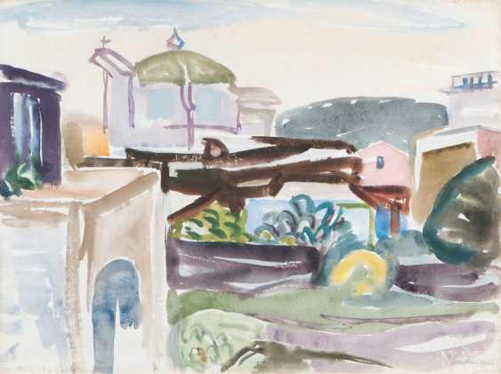 "Erich Hartmann ""the Church in Porto d'Ischia / the port on Ischia"" - photo 1"