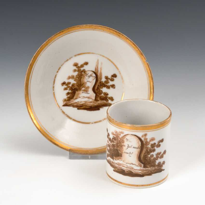 Cup with a Sepia painting, blow elbgold forest. - photo 1
