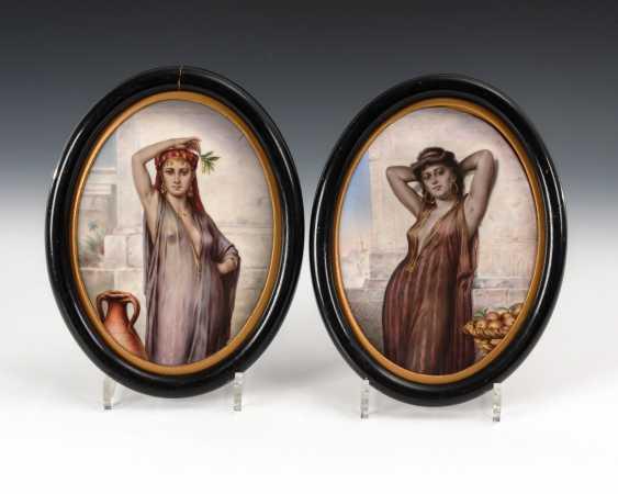 2 Porcelain Paintings: Oriental Interior. - photo 1