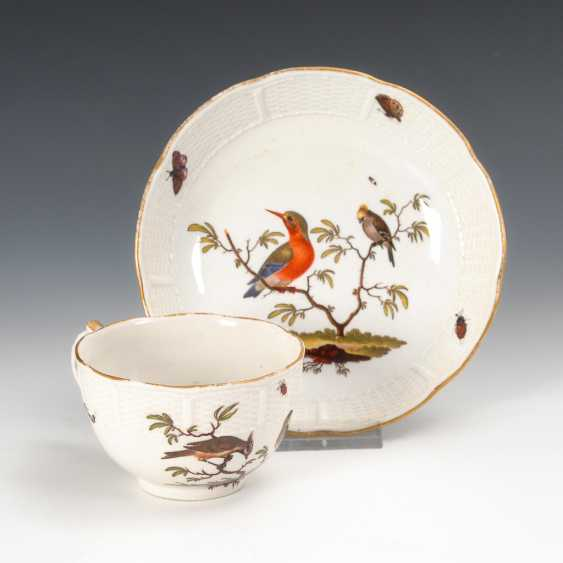 Cup with bird painting, Ludwigsburg. - photo 1