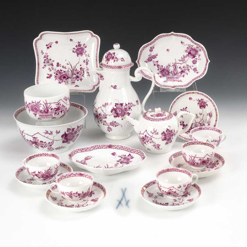 Coffee service with purple painting, Meissen. - photo 1