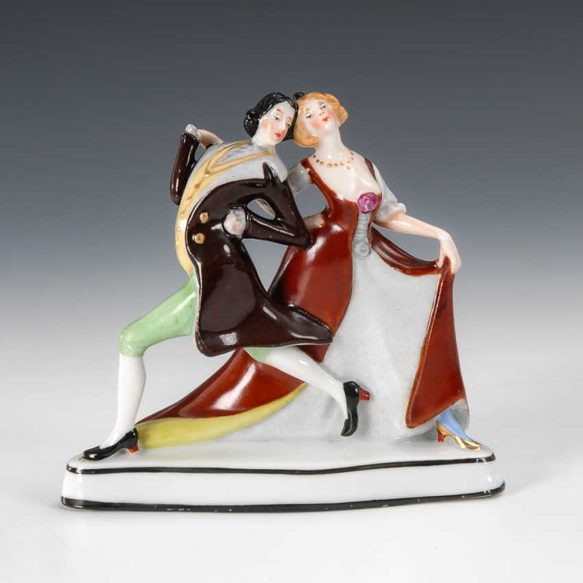 Miniaturfigur: Tanzendes Paar, Fraureuth. - Foto 1