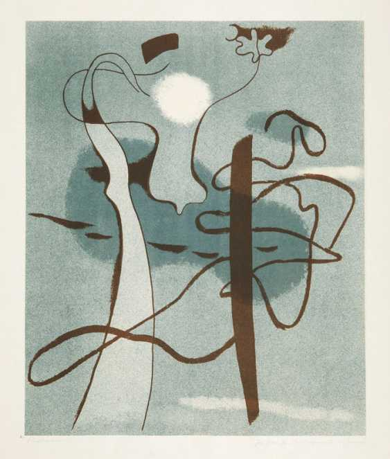"""Willi Baumeister, """"composition in gray-Blue"""" - photo 1"""