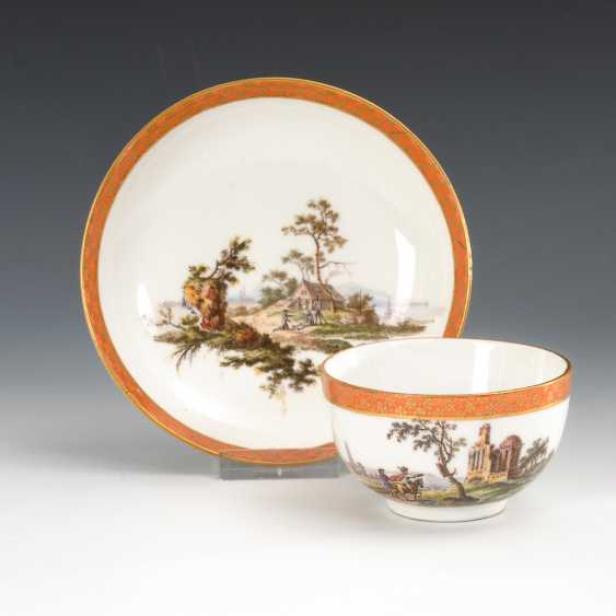 Cup with landscape painting, Meissen. - photo 1