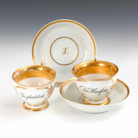 2 Dedication Cups, Meissen. - photo 1