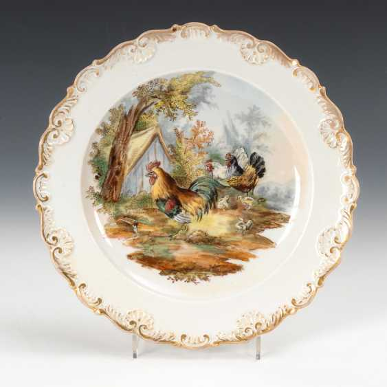 Dishes with poultry, painting, Meissen. - photo 1