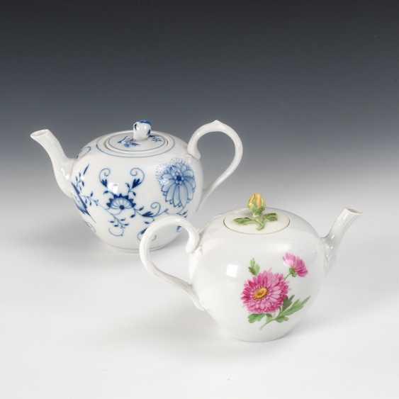 2 kleine Teekannen, Meissen. - Foto 1