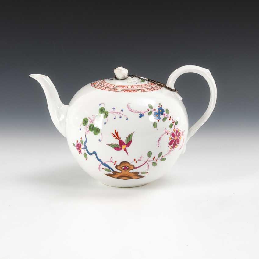 Teekanne mit Kakiemonmalerei, Meissen. - Foto 1