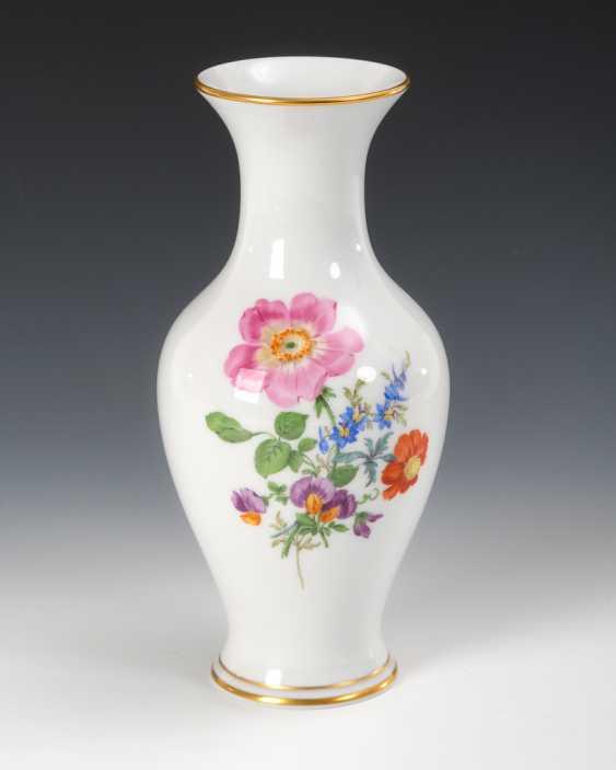 Vase mit Blumenmalerei, Meissen. - Foto 1