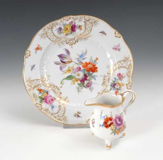 Plate and jug, Meissen. - photo 1