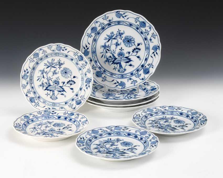 4 + 4 Onion Pattern Dish, Meissen. - photo 1