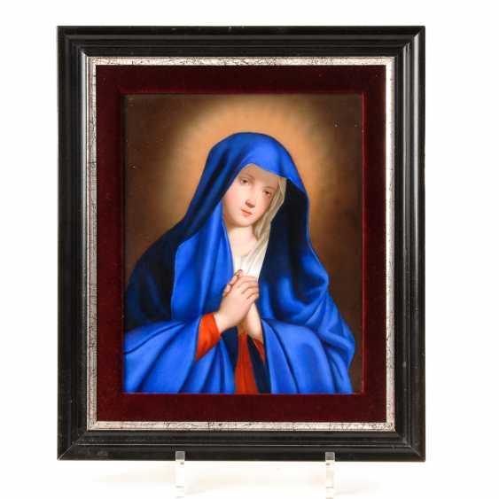 Porzellangemälde: Betende Madonna, Meissen. - Foto 1