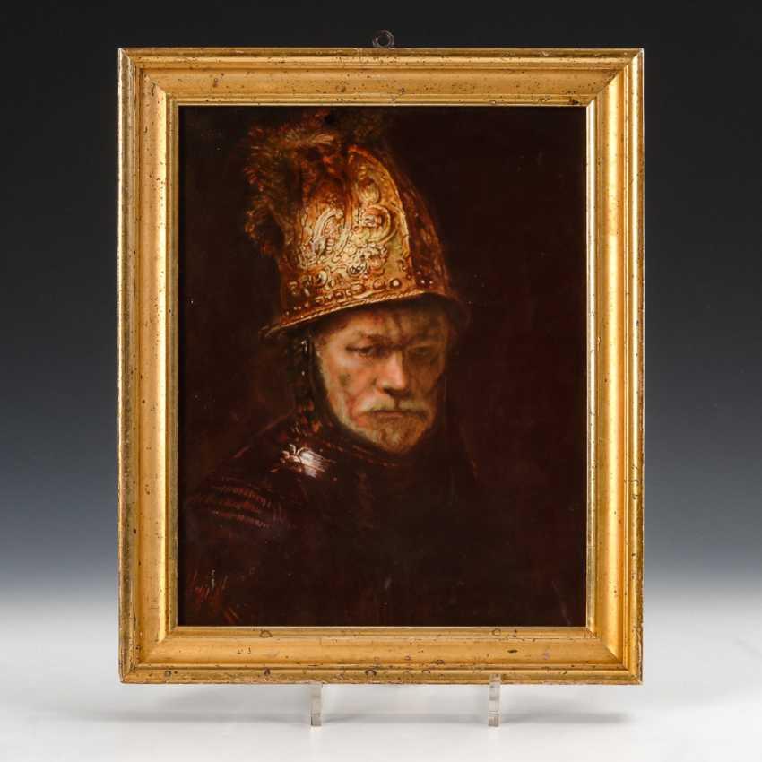 PorzellanbilDurchmesser: Mann mit Goldhelm, Heinrich. - Foto 1
