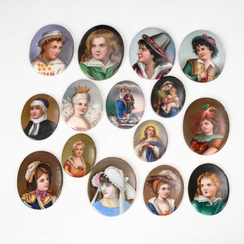 15 Porzellan-Plaketten. - Foto 1