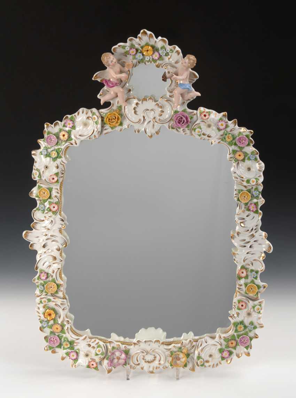 Mirror with porcelain frame, Ernst Bohne sons. - photo 1