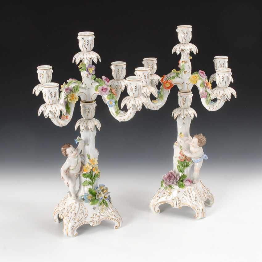 Pair of figural candelabra, Potschappel. - photo 1