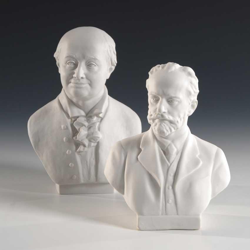 2 Büsten: Lomonossow und Tschaikowski, Lomonossow. - Foto 1