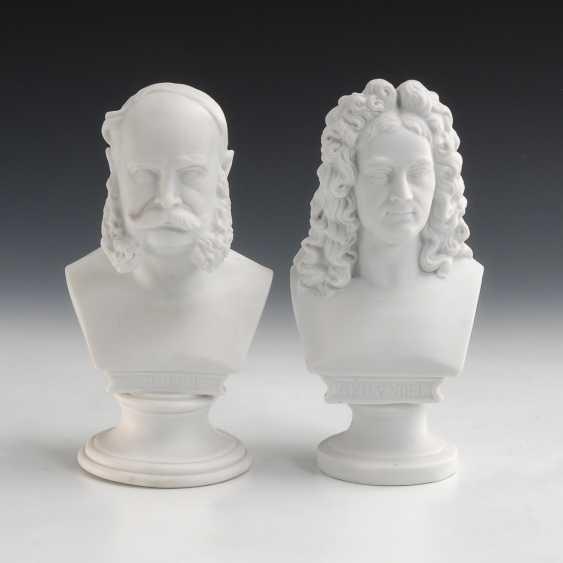 2 Büsten: Händel und Wilhelm. - Foto 1