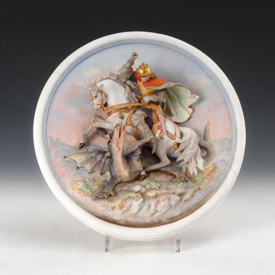 Porcelain Tondo: The Holy Georg. - photo 1