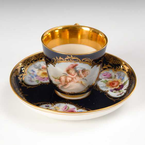 Mocha Cup with cobalt Fund, Meissen. - photo 1