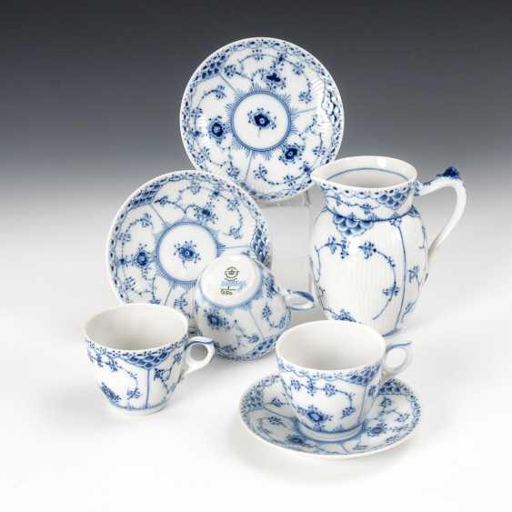 "3 coffee and 1 milk jug ""Musselmalet cups"", Royal Copenhagen. - photo 1"