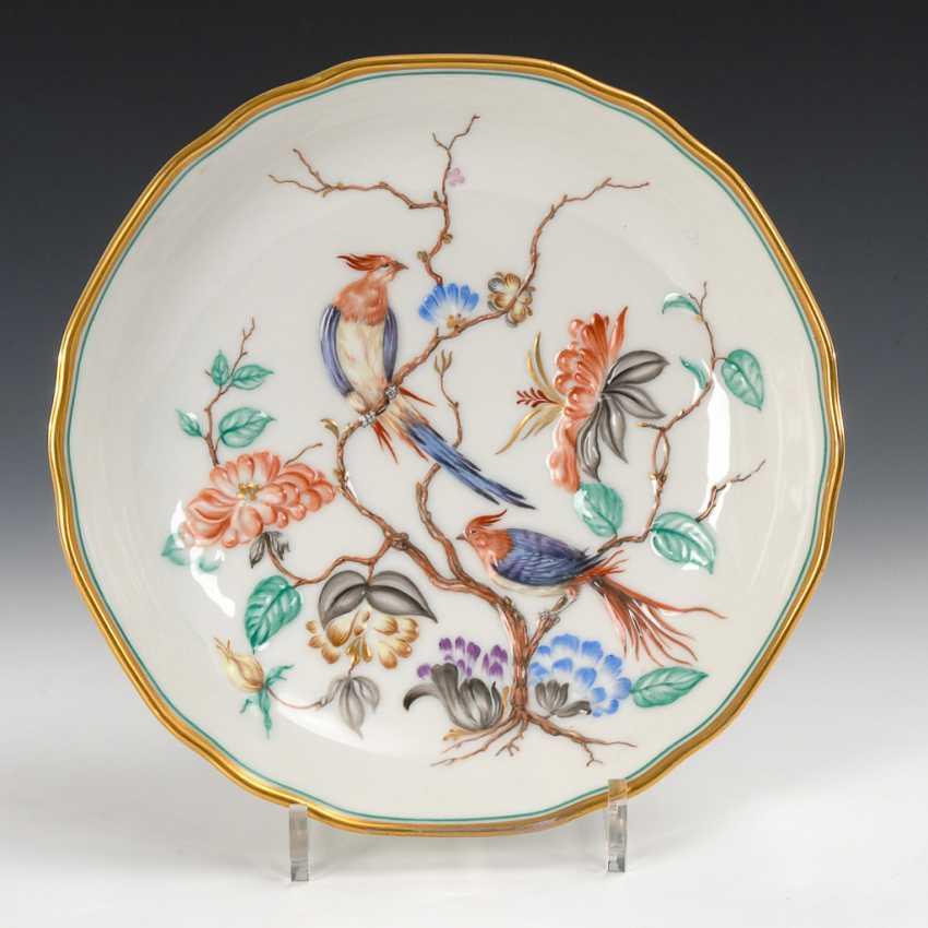 Rare bowl with bird relief, the Augarten. - photo 1