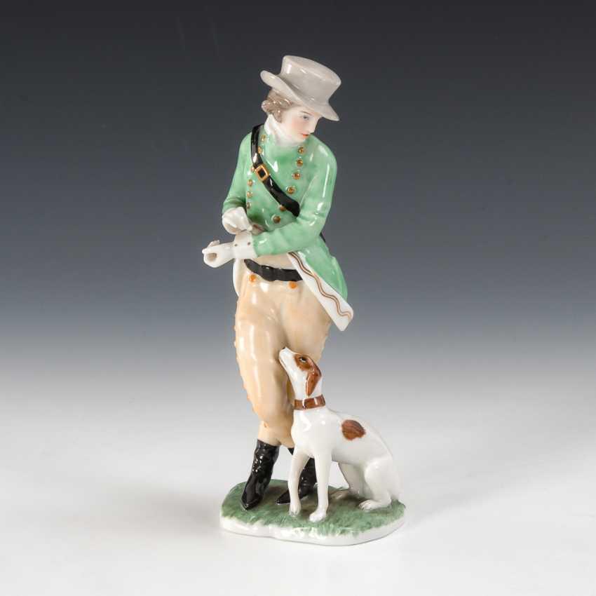 Herr mit Hund, Augarten. - Foto 1