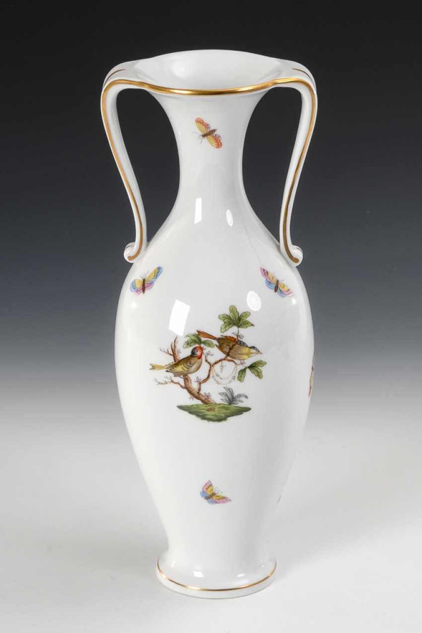Vase mit Rothschildekor, Herend. - Foto 1