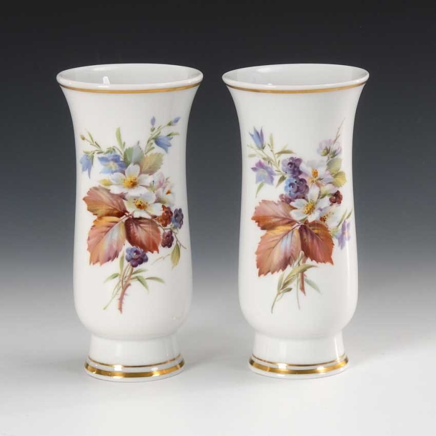 2 vases with flower painting, Meissen. - photo 1