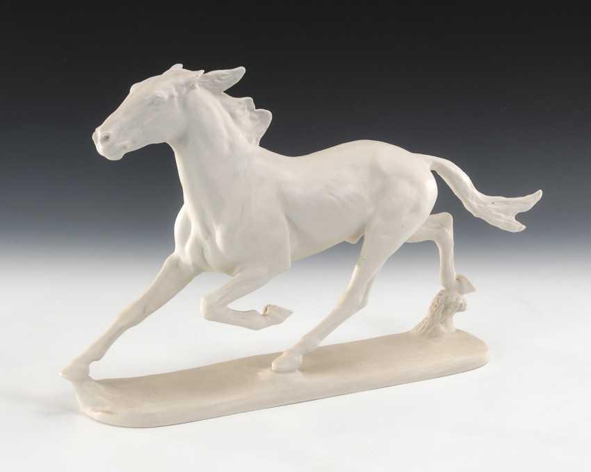 Trabendes Pferd, Rosenthal. - Foto 1