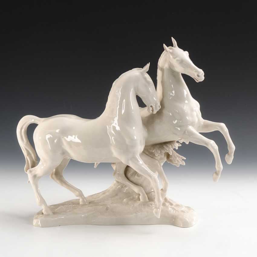 Horse Pair Of Hutschenreuther. - photo 1