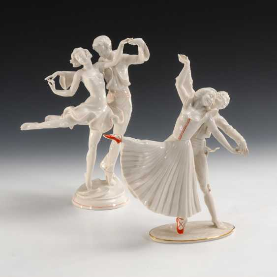 """Tanzpaar und """"Die roten Schuhe"""", Hutschenreuther. - Foto 1"""