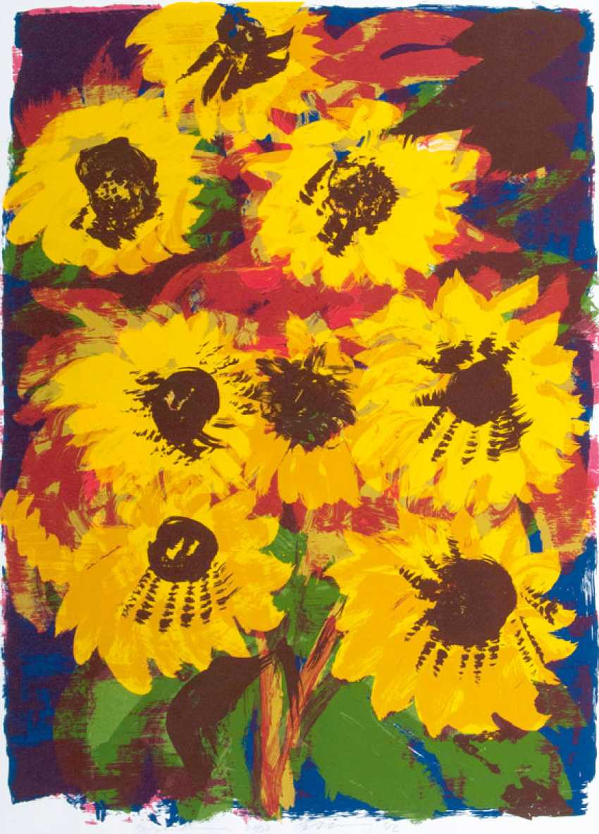 Rainer Fetting ''Sonnenblumen'' - photo 1