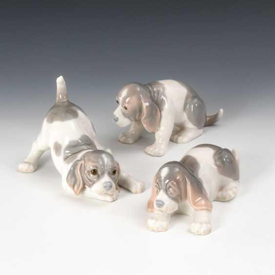 3 Hundewelpen, Lladro. - photo 1